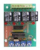 Πλακέτα με relay για έξοδο κατάσβεσης με ρύθμιση καθυστέρησης ανά ζώνη