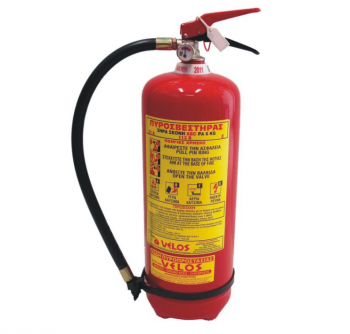 Πυροσβεστήρας φορητός 6 kg ξ.σκόνης ABC 40% τύπου ΡΑ